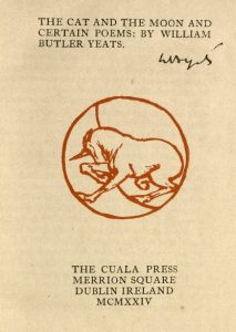Cover of The Cat and the Moon and Certain Poems by W.B. Yeats