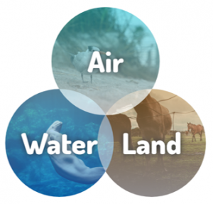 Air-Water-Land graphic